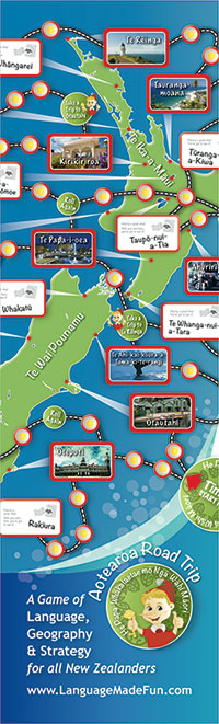 Aotearoa Road Trip Game of Maori Place Names