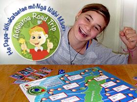 New game for Māori Language Week 2013. He Papa-Whakataetae mō Ngā Wāhi Māori or Aotearoa Road Trip.