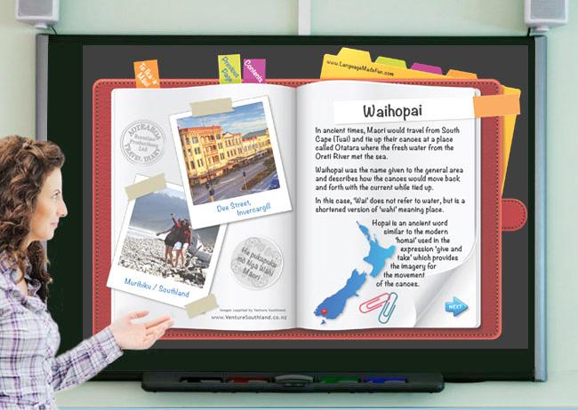 interactive-whiteboard-aotearoa-travel-diary